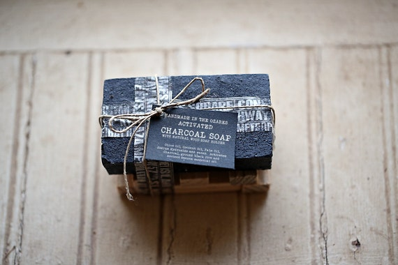 ACTIVATED CHARCOAL SOAP  Bar Only- No holder-   Made In The OZarkS