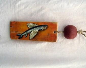 fish painting Black Orange, food art decor, kitchen art, wall art