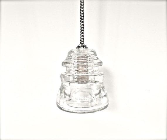 Houndstooth insulator light vintage pendant by for Antique insulator pendant lights