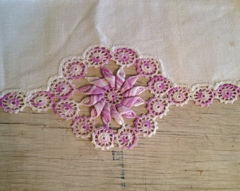 Purple Pin Wheel Table Cloth Vintage Table Runner