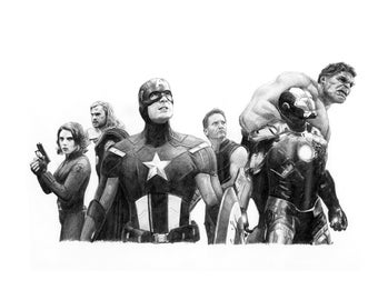 AVENGERS ASSEMBLE pencil drawing