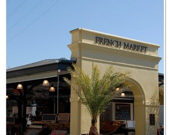 French Market Arch - New Orleans French Quarter