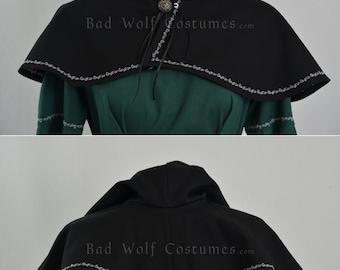 Fantasy Hood Mantle - color options - Medieval, Renaissance, mage, elven, archer, ranger, costume, cosplay, LARP