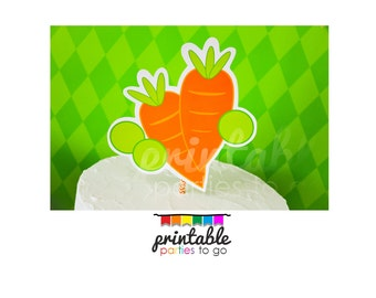 INSTANT DOWNLOAD Peas & Carrots Printable Cut Out - Please Read Description Thoroughly - Printable Parties to Go