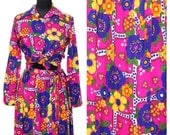 Vintage Maxi Skirt and Long Sleeved Shirt / 1970s 70s / Matching Outfit / Womens Clothing / Two Piece / Novelty Print / Long Skirt / Blouse