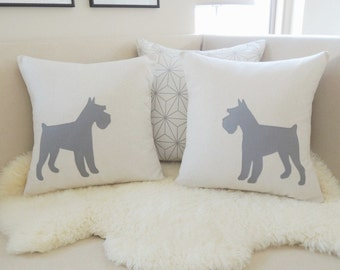 Schnauzer Pillow Cover Pair