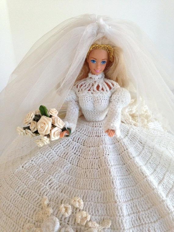 coussin de lit vintage poup e barbie en crochet par shaginyandtil. Black Bedroom Furniture Sets. Home Design Ideas