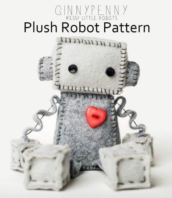 Felt Robot Pattern Felt Robot Plush Pdf Pattern