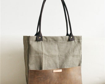 Removable With Handles, Leather Canvas bag, Shoulder bag,Women's messenger, canvas Bag,Tote