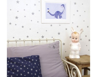 Silver Wall Decal Etsy - Nursery wall decals stars