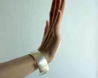 Silver Cuff Bracelet -Silver Bracelet-Wide Silver Bracelet-Wide Sterling Cuff  Bracelet - Wide Silver Hammered Bracelet