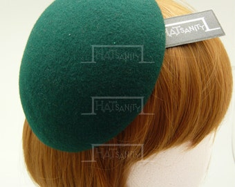 TRENDY x CUTE Fashion Plain Wool Felt Mini Beret Fascinator - Green