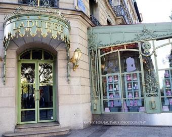 Paris Photography, Laduree Patisserie, Champs Elysee Laduree, Paris Pastry Macaron Shop, Paris Prints, Paris Bakery Macarons