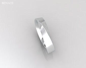 Mobius 18k Wedding Ring, 4mm wide mobius Wedding Band, Modern Mobius Strip Ring, Gold Infinity Ring, 18k Mobius Wedding Band, Gold Band