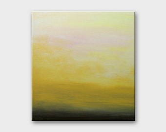 Abstract minimalist acrylics Original paintings Minimalist art Peinture abstraite Abstract Yellow Painting Minimalist original painting