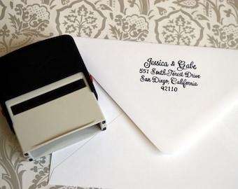 Custom Hand Calligraphy Rubber Address Stamp - Self Inking