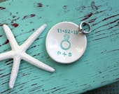 Engagement Ring Dish with Initials and Date, Personalized Mini Ring Dish, Custom Ring Dish