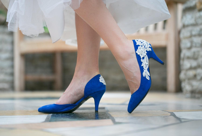 Wedding Heels Cobalt Blue Wedding Shoes Bridal Shoes Blue
