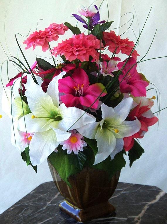 Small Flower Arrangement Vase Floral Arrangements Silk