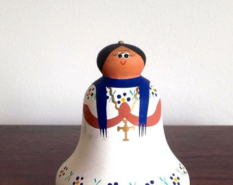 Ceramic Figurine, Ceramic Bell, Figurine Bell, catholic gift, first communion gift, affordable gift
