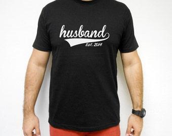 Husband T-Shirt. Husband Est 2017 2018 2019  Shirt. Groom T-Shirt. Groom Tee. Groom Shirt. Honeymoon 2017 Tee Shirt. Bachelor Party T-Shirt.