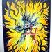 EYE of NIRVANA. YELLOW. Contemporary Surreal Abstract Modern Art. Original acrylic painting 16x20