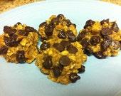 2 Dozen - Healthy Organic Peanut Butter Oatmeal Chocolate Chip Cookies!  - NO Eggs, NO Oil, NO Flour!