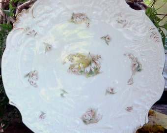 Bavarian Luncheon Dessert Plate Germany Snowdrops Lily Of The Valley Fancy Edwardian Dish For Your Vintage Kitchen