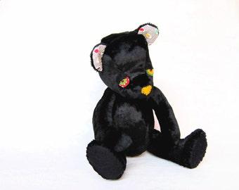 Limited Edition Sleepy Black Bear - Bear With Me - Posable