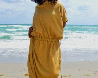 The Hooded Kaftan Organic Maxi Dress. Sustainable organic hemp custom made clothing by Grateful Threads Asheville. Handmade. Conscious.