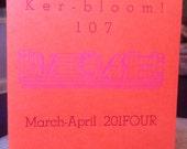 Kerbloom letterpress zine about books