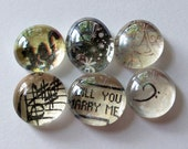 SALE - Last Chance - Will You Marry Me - Marble Magnets