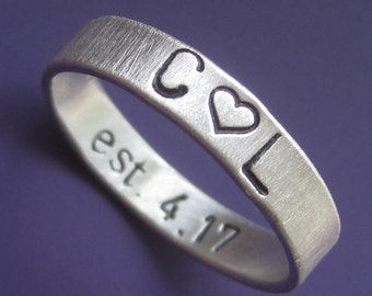 Wide Inner Message Custom Ring