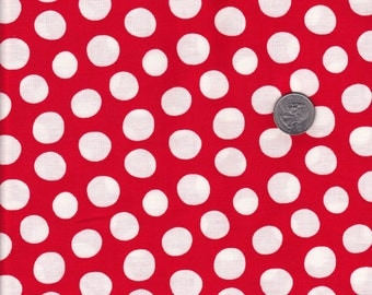 One yard - Red Dots - Fowl Play - Luella Doss for Free Spirit - cotton quilt fabric