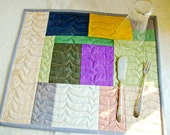 Hand-dyed Quilted Placemats - set of 6 - no.3