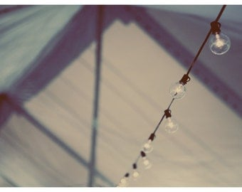 Fine Art Photography - The Story  - Lights - Tent - Magical Art - White - Blue - Bokeh - Alicia Bock Print - Circus Tent - Childrens's Decor