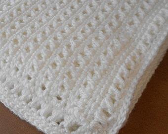 Crochet Baby Afghan - Crochet Baby Blanket - Reversible Babyghan - Made To Order