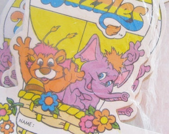 Vintage 80s Disney The Wuzzles Place Card Candy Cups New in Package Party Supplies
