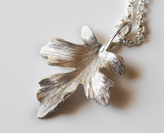 Hammered Silver Maple Leaf Pendant on an 18 inch chain, forged, handmade, solid sterling - Made to Order