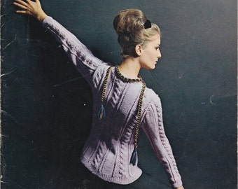 Reynolds New Collection Designer Sweaters - Vintage Knitting Patterns