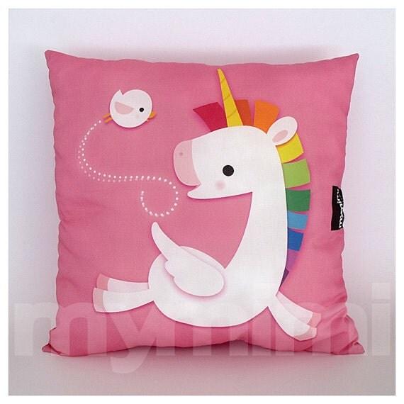 Throw Pillows 12 X 12 : 12 x 12 Pink Pillow Decorative Pillow Rainbow Unicorn