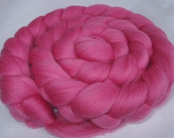 BABY PINK, wool roving, merino wool roving for spinning, wool roving for felting, 20 micron, felting wool, dolls hair, dread wool, 3.5oz