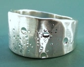 Sterling Silver Ring - Wide Tapered Band - Shoreline