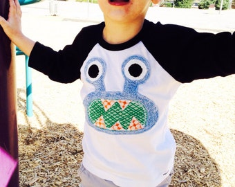 Blue Bernard on 3/4 black and white tee- now in infant sizes 3-6m, 6-12m, 12-18m, 2, 4, 6, 8,10 and adult sizes