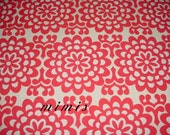WallFlower in Cherry by  Amy Butler Fabric / 1 Yd Cotton Quilt Apparel Fabric Lotus Prints