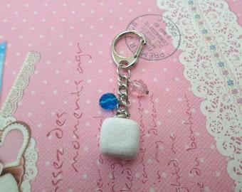 Polymer Clay Sweet Treats: Sugar Cube Keychain, Miniature Food Jewelry, Polymer Clay Food Keychain