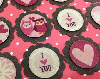 Owls In Love Tags Pack of 20