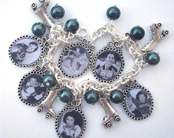 Vintage ROLLER DERBY QUEENS Charm Bracelet