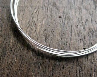 Bright 24 gauge Sterling Silver recycled Dead Soft Wire -  5 feet