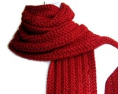 Solid Red Scarf Classic Men Unisex GABLE Ready to Ship